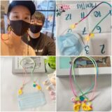 梨花HaNA 韓國風靡防疫小物笑臉口罩項鍊口罩帶防丟防汙染